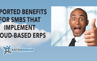 REPORTED BENEFITS FOR SMBs THAT IMPLEMENT CLOUD-BASED ERPs
