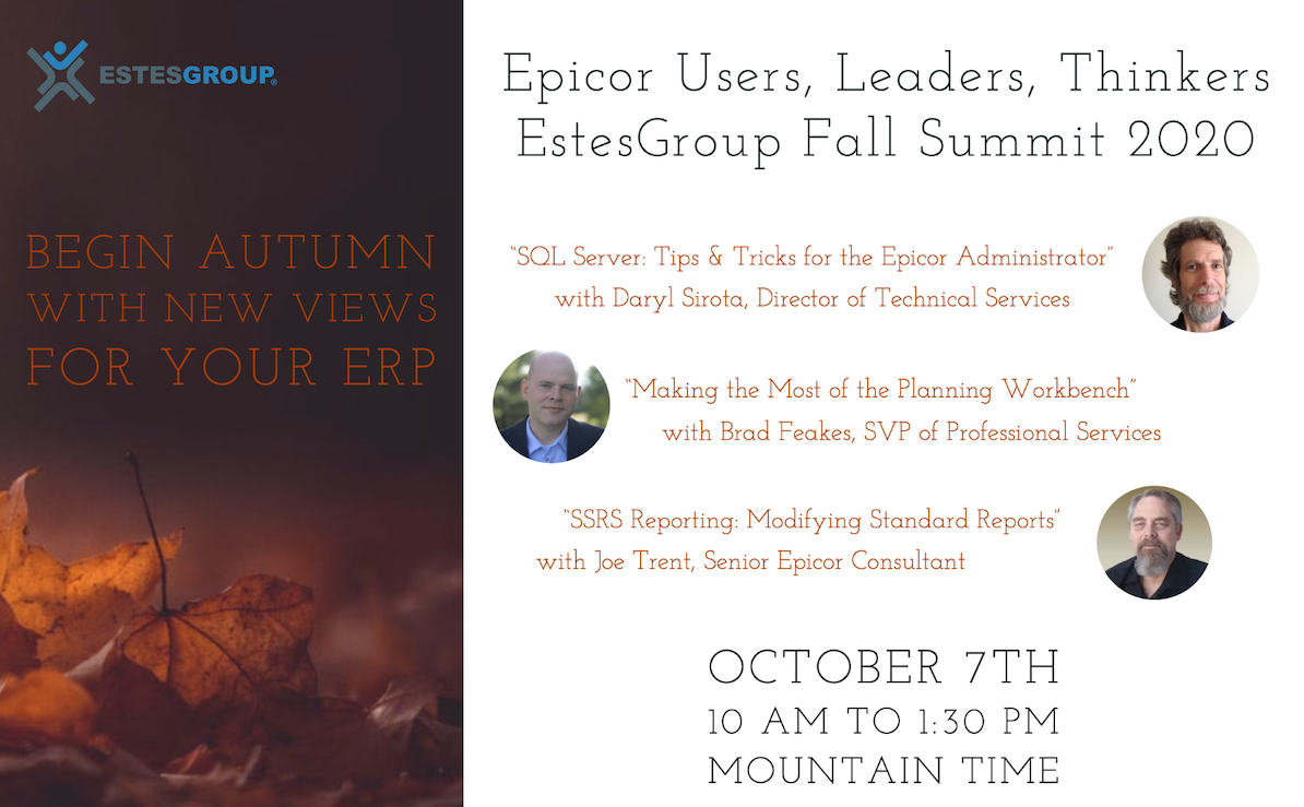 Epicor ERP Virtual Event EstesGroup