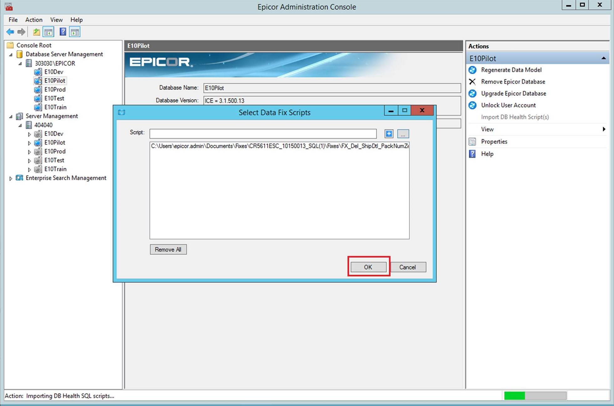 Epicor Data Fix Workbench