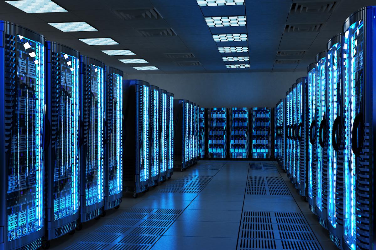 Secure server room in a managed hosting data center