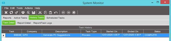 Epicor System Monitor