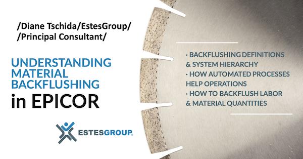 Material Backflushing in Epicor
