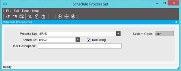 Schedule ERP Process