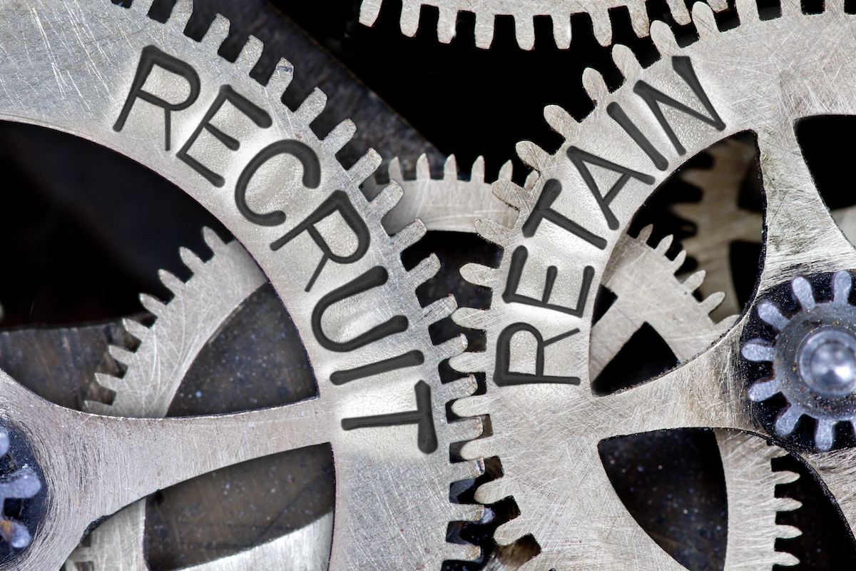 Employee Attrition vs Attraction Recruit and Retain Gears