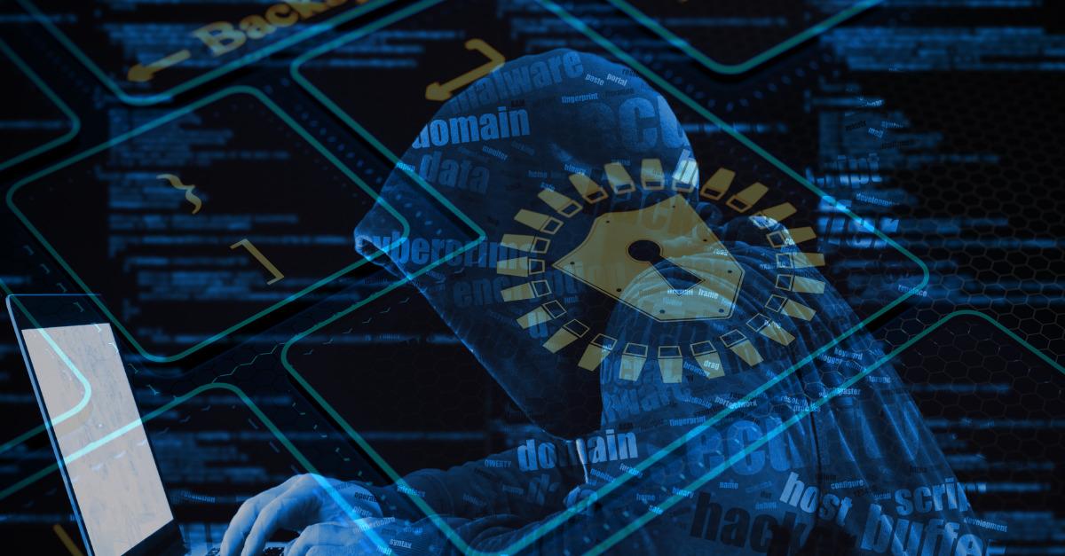 Cybersecurity Training Hacker in Network Security Lock